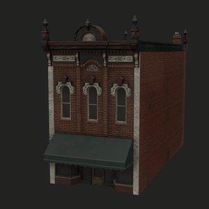 adel bank building 3D