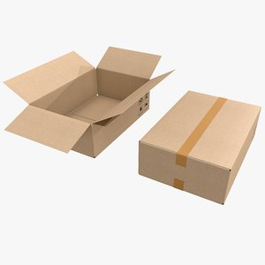 3D model pbr cardboard box