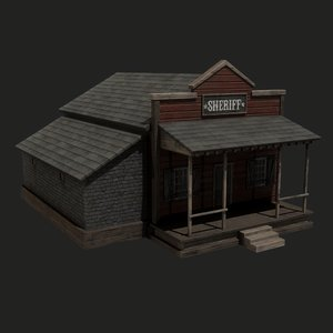 3D model old west sheriff s