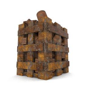 wooden winter 3D