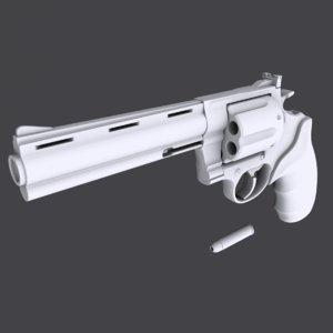 colt anaconda 44 magnum 3D model