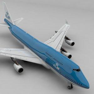3D boeing 747 klm l804
