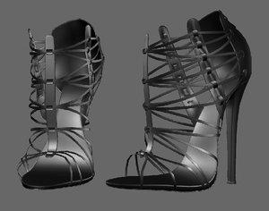 3D model shoeshighheelboot