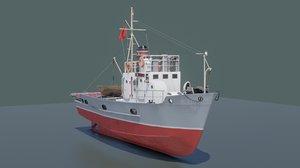 3D soviet small fishing seiner