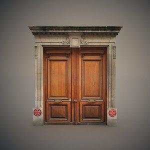 3D wooden door frame