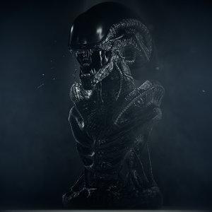 decimated xenomorph 3D