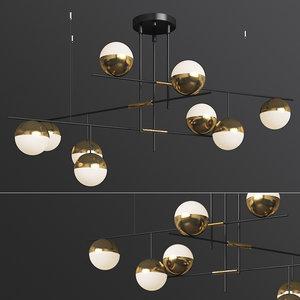 technum chandelier lampatron 3D model