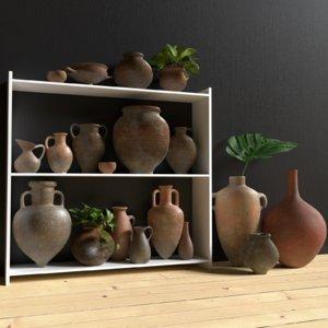 3D pot home decoration