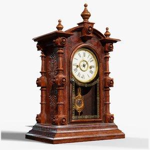 3D vintage clock gameready