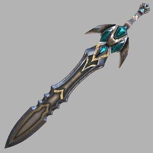 fantasy sword 23 modeled model