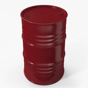 3D barrel contains metallic model