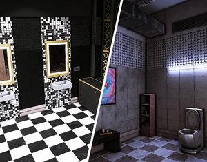 3D interior wc 1 scene