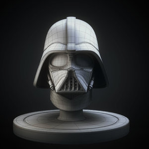 3D darth vader helmet model
