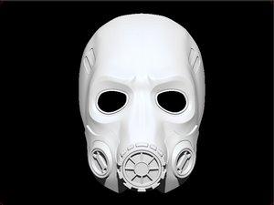 borderlands mask 3D model