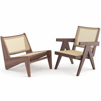 Lounge Chairs by Pierre Jeanneret and Cassina