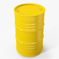 Metal Barrel Clean Yellow