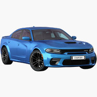 Dodge Charger SRT Hellcat 2020 Opening doors and trunk