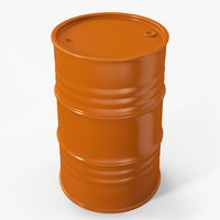 Metal Barrel Clean Orange