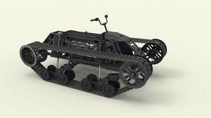 3D model vehicle track