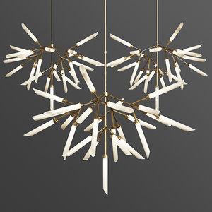 3D spur pendant chandelier loftconcept