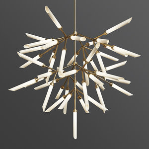spur pendant grand chandelier 3D model
