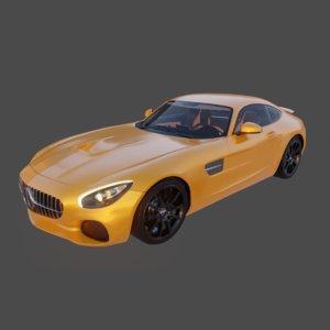 3D model sportive racing car
