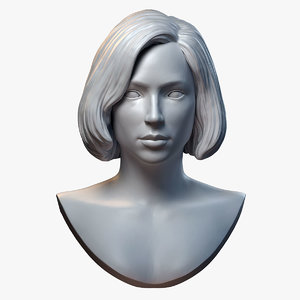 female hairstyle sculpture model