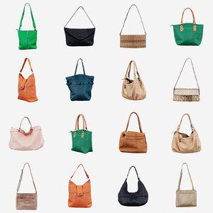 12 handbags 3D model