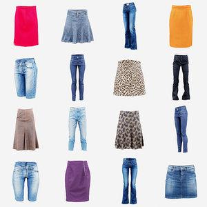 3D 12 pants skirts