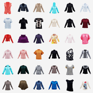 3D 36 clothing decorations model