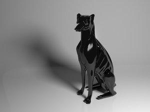 dog sculpture sculpt model