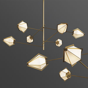 harlow spoke chandelier 3D model