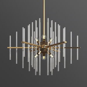 3D model yoselin 6-light chandelier