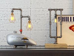 3D desk lamps model