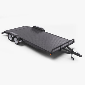 trailer double torsion axle model