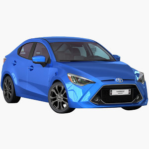 3D toyota yaris sedan 2019