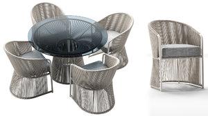 3D tibidabo table dining armchair