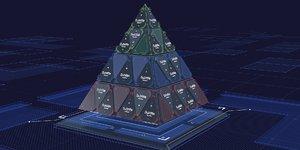 hud pyramidal infographics 3D model