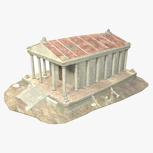 3D model - roman building