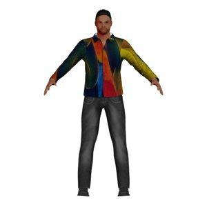 latino man rigged character 3D model