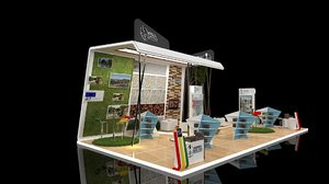 exhibition stand 10x5 50sqm 3D