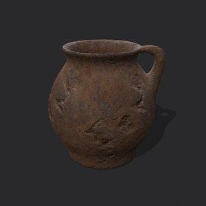 3D medieval chamber pot