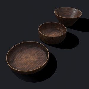 3D wooden bowls