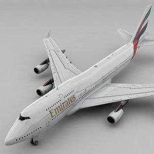 boeing 747 emirates l806 3D model