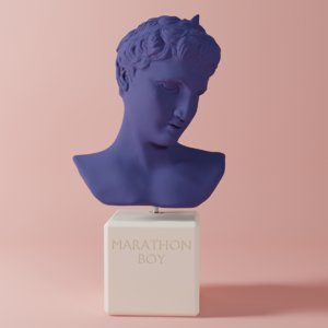 marathon boy statue 3D model