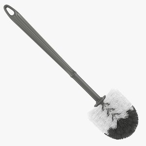 toilet brush gray 3D model