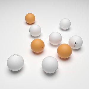 ping pong balls model