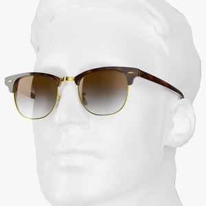 3D classic style eyeglasses tortoise