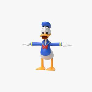 donald duck 3D model
