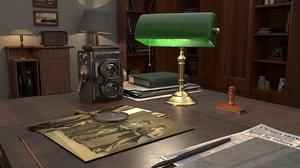 3D bankers lamp model